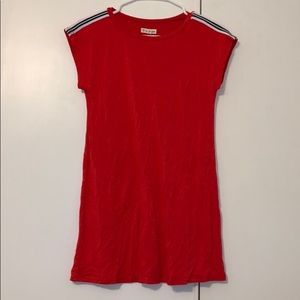 Tucker and Tate red dress with shoulder stripe